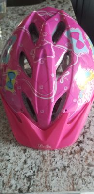 Girls barbie helmet