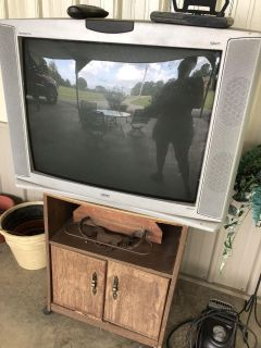 RCA large screen tv with antenna and stand