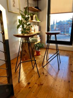 Set of two From The Source bar stools