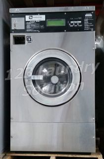 Good Condition Maytag Front Load Washer 25LB MFR25PDCWS 110-120v Stainless Steel Used