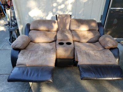 Reclining theater type seating couch