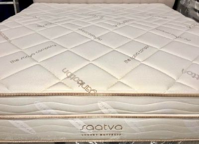 "New King Saatva Brand - 16"" Luxury Firm Memory/Cooling Gel Foam Mattress Set"