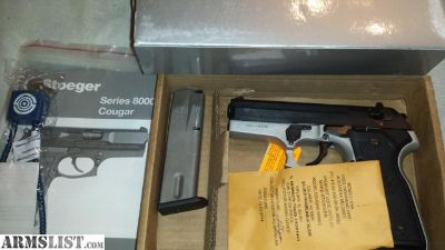 For Sale: Private sale NEW gun : Stoeger Cougar 40S&W t factory mags box, paperwork