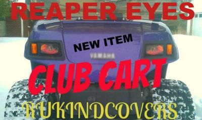 Find CLUB CART GOLF CART REAPER Eyes CUSTOM RuKindCover's HeadLight Covers motorcycle in Medina, Ohio, United States, for US $15.00
