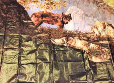 "NEW Shower Curtain Mainstays Wilderness Wolf Photoreal PEVA Bathroom Panel 72"" x 70"""