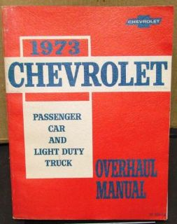 Buy 1973 Chevrolet Service Shop Overhaul Manual Chevelle Camaro Corvette Truck Real motorcycle in Holts Summit, Missouri, United States, for US $39.72