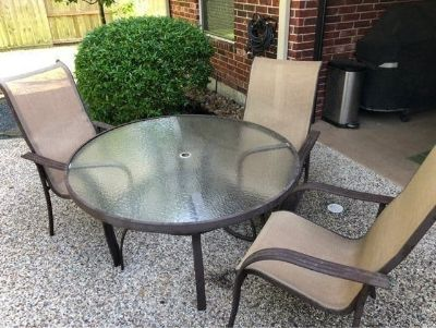 Patio Table with 3 Chairs
