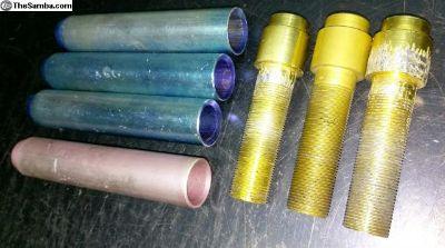Aluminum threaded push rod tube parts