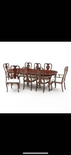 Heritage Queen Anne dining table and China Cabinet