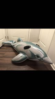 Huge dolphin pool float