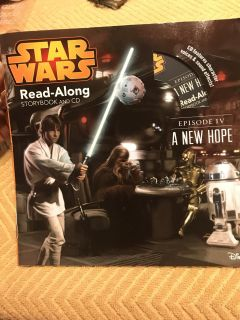 New Star Wars episode 4, A new Hope read along book with CD. $1.00
