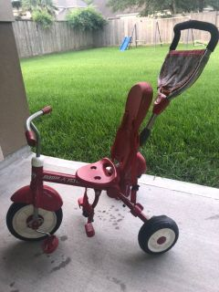Radio Flyer push behind tricycle