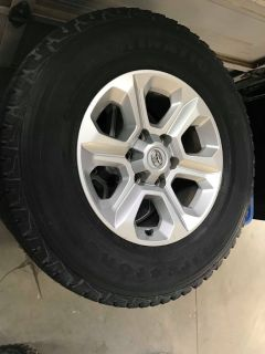 Toyota 4Runner/Tacoma wheels and oversized LT255/75R17 Firestone Destination A/T tires