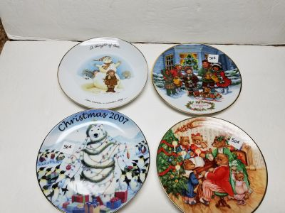 Lot of 4 Decorative Plates $1 All