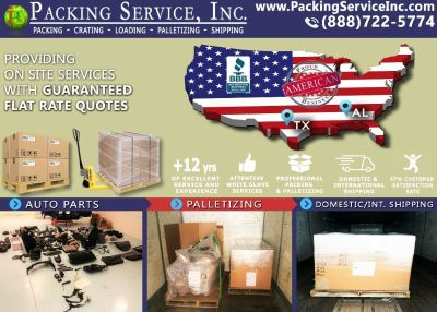 Packing Service, Inc. Shipping Services and Palletizing Boxes - Houston, Texas