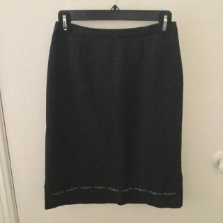 Amazing gray wool size 1 old navy skirt