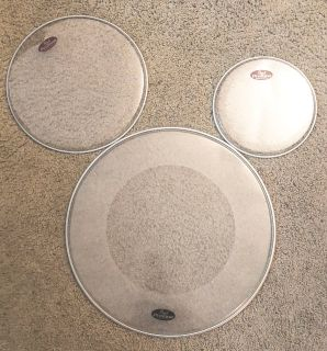 Pearl Protone drumheads, 20 , 13 and 10 set
