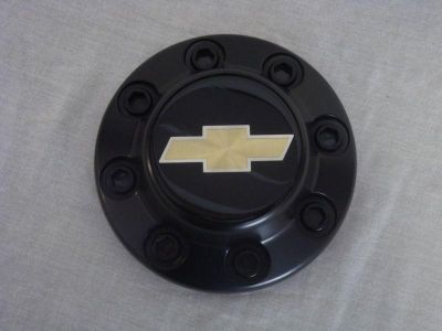 Buy NOS Chevrolet Pickup Truck C2500 C3500 8 Lug Center Hub Cap Black Gold Bow tie motorcycle in Hustisford, Wisconsin, US, for US $9.99