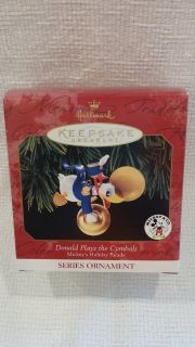Hallmark Ornament - 1999 Disney - Donald Plays the Cymbals