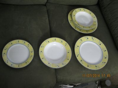 dish set for two