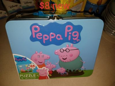 Peppa Pig tin with puzzle inside