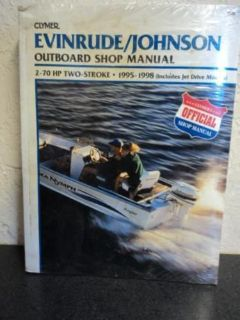 Buy CLYMER SHOP MANUAL FOR EVINRUDE/JOHNSON 2-70HP ~ B735 motorcycle in Hollywood, Florida, United States, for US $22.95