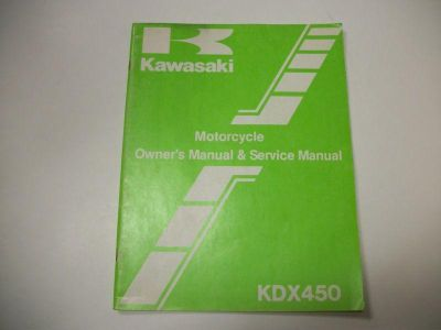 Purchase Kawasaki Service Manual KDX450 1981 1982 KDX450-A1 KDX450A1 OEM Factory motorcycle in Colorado Springs, Colorado, US, for US $26.95