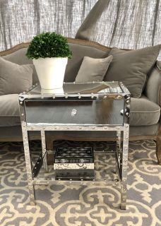 Mirrored End Table EUC