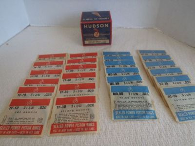Purchase 1936-39 Hudson 6 Cylinder Automobile Car Sealed Power Piston Ring Set NOS 166451 motorcycle in Bridgewater, Massachusetts, United States, for US $45.00