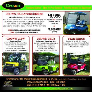 You will love your new golf cart with cold air heat radio - Crown View Model