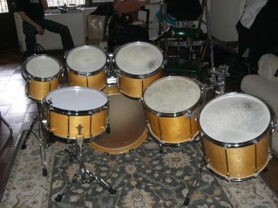 1986 Noble and Cooley Classic SS Solid 1 PLY SHELLS Maple Drum Set  $2400