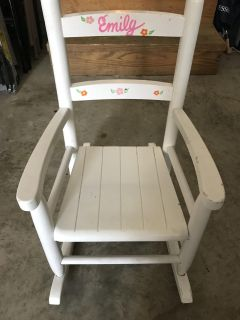 Child Sized Wooden Rocking Chair
