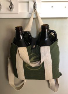 Phillips Growler Backpack & 2 growlers
