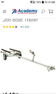 Iso boat trailer for a Jon boat