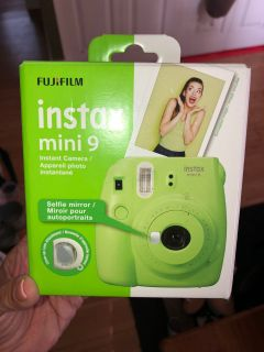 New in box Instax 9 lime green color with selfie mirror