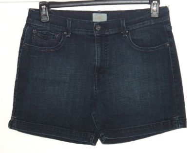 Levis 515 Mid-Rise Denim Jean Shorts w Slits Womens 10 Stretch