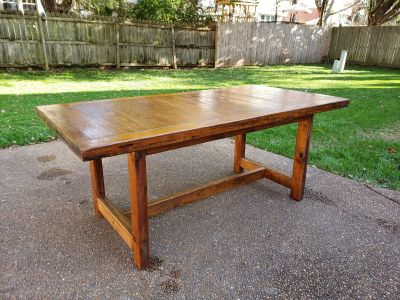 Solid Pine Kitchen/ Dining Room Table