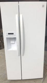Kenmore white side by side refrigerator
