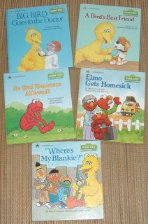 Lot of (5) RARE Vintage 80's 90's Sesame Street A Growing-Up Book A Golden Book Hard Cover