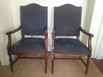 2 High Back Upholstered Chairs