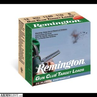 For Sale: Remington Gun Club Target Shotgun Ammo 12 Gauge 2.75 INCH