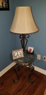 2 lamps and 2 end tables