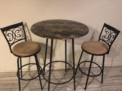 Bar-height table for two!