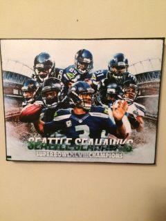 SEATTLE SEAHAWKS SUPERBOWL XLVIII 8X10 CANVAS *** NEW ***
