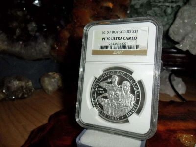 Gorgeous 2010-P Boy Scouts of America Silver Dollar PR 70 Ultra Cameo NGC