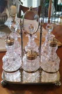 Silver and Cut Glass Castor Set