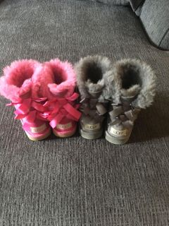 Toddler girl UGG bow boots