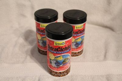 $8 Tetra Cichlid food, lot of 3 NEW expired