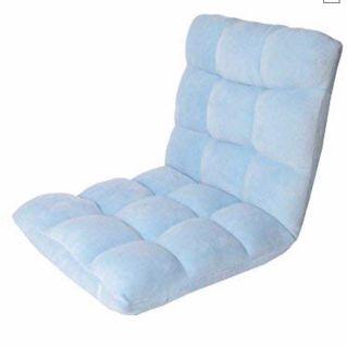 Blue Lounge Adjustable Recliner Rocker Memory Foam Armless Floor Ergonomic Chair