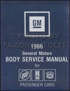 Purchase 1986 Buick Body Shop Manual 86 Grand National Regal Riviera Electra LeSabre Etc motorcycle in Riverside, California, United States, for US $42.00